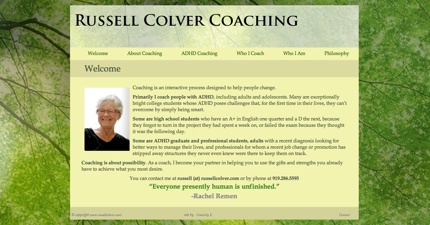 Russell Colver Coaching Website