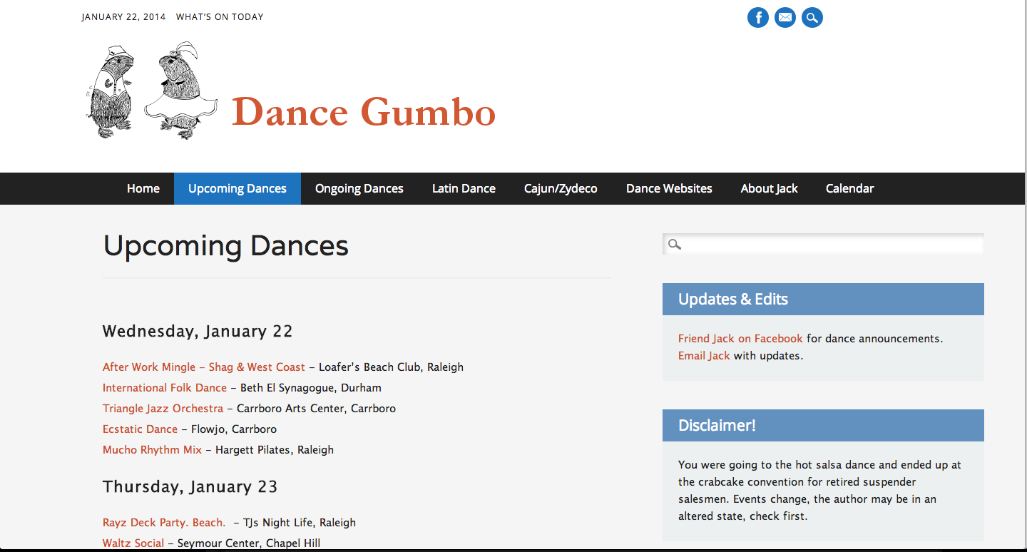 Dance Gumbo - Website